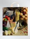 Igelitové tašky o rozměru 400 x 460 mm, motiv Potravinové zátiší
